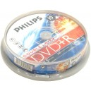 DVD диск Philips DVD+R 8,5Gb DualLayer box 10 8x