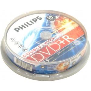 DVD диск Philips DVD+R 8,5Gb DualLayer box 10 8x