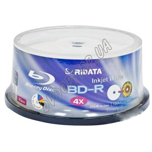 Blu-ray диск Ridata BD-R SL 25Gb 6x box 50 Glossy Printable(fullface)