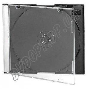 CD box slim black 5,2mm (10 шт.) DE Luxe(СУПЕР КАЧЕСТВО)