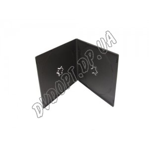 VCD box/2 black 7mm glossy (10 шт.)