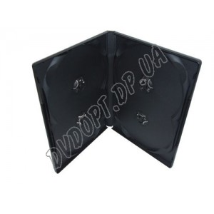 DVD box на 4 black 14mm glossy (10 шт.)