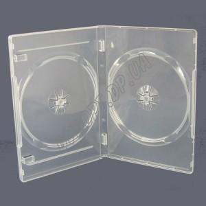 DVD box на 2 clear 14mm суперпрозрачная (10 шт.)