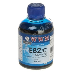 Чернила WWM EPSON Stylus Photo Cyan (200г) E82C