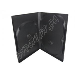 DVD box на 3 black 14mm glossy (10 шт.)