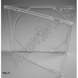 CD box jewel clear 10,4mm (10 шт.) De Luxe (СУПЕР КАЧЕСТВО)