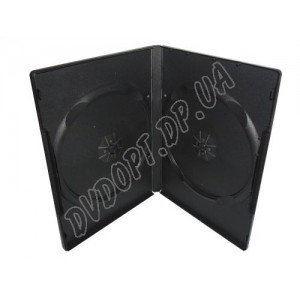 DVD box black на 2 14mm glossy (10 шт.)