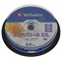 DVD диск Verbatim DVD+R 8,5Gb DL printable box 10 8x Life Series