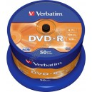DVD диск Verbatim DVD-R 4,7Gb box 50 16x