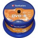 DVD диск Verbatim DVD-R 4,7Gb box 50 16x