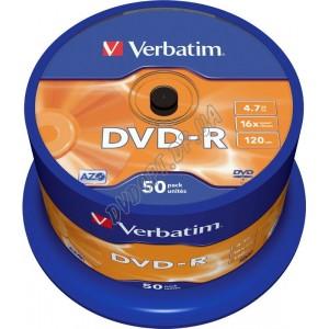 DVD диск Verbatim DVD-R AZO 4,7Gb (box 50) 16x Taiwan