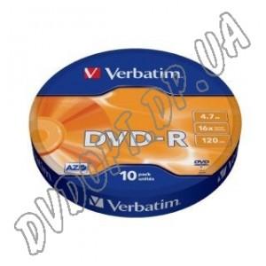 DVD-R диск Verbatim AZO 4,7Gb bulk 10 16х