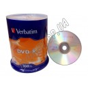 DVD диск Verbatim DVD-R 4,7Gb box 100 16x