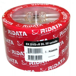 DVD диск Ridata DVD+R 8,5Gb DL bulk 25 8x
