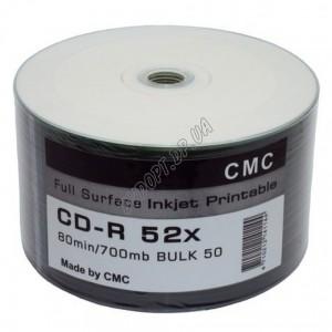 CD-R диск CMC 700MB 80min (bulk 50) 52x printable
