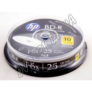 Blu-ray диск HP BD-R DL 25Gb 6x printable box 10