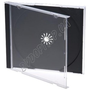 CD box jewel black 10,4mm (10 шт.) De Luxe (СУПЕР КАЧЕСТВО)