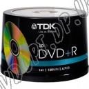 DVD диск TDK DVD+R 4,7Gb box 50 16x