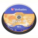 DVD диск Verbatim DVD-R 8,5Gb DualLayer cake10 4x