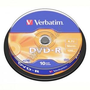 DVD диск Verbatim DVD-R 8,5Gb DualLayer box 10 4x