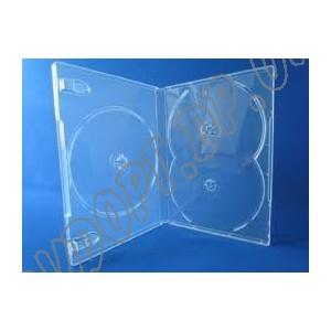 DVD box на 3 clear 14mm суперпрозрачная (без трея) (10 шт.)