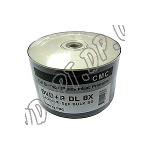 DVD диск CMC DVD+R 8,5Gb DL printable glossy bulk 50 8x