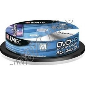 DVD диск EMTec DVD+R 8,5Gb DL box 10 8x
