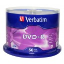 DVD диск Verbatim DVD+R Data Life 4,7Gb box 50 16x China