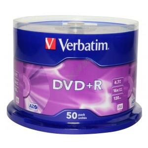 DVD диск Verbatim DVD+R Data Life 4,7Gb box 50 16x China (43815)