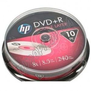 DVD диск HP DVD+R 8,5Gb DualLayer box 10 8x