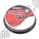 DVD диск EMTec DVD+RW  4,7Gb 4x box 10
