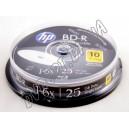Blu-ray диск HP BD-R DL 25Gb 6x box 10