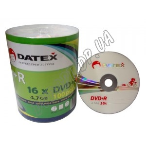 DVD диск Datex DVD-R 4,7Gb bulk 100 16x