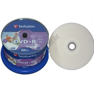 DVD диск Verbatim DVD+R AZO 4,7Gb  box 50 16x printable
