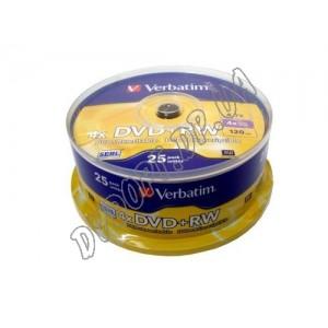 DVD диск Verbatim DVD+RW 4,7Gb  box 25 4x